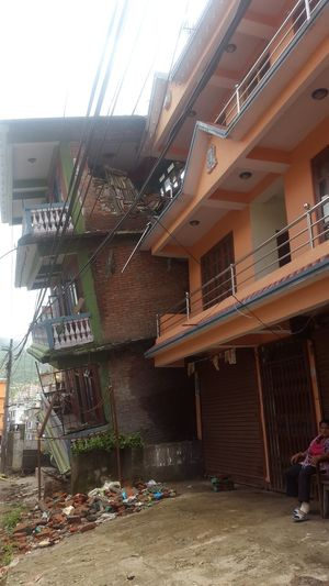 because of earthquake Absence Architecture Building Exterior Buildings Earthquake Earthquakeinnepal EarthquakeNepal Outdoors Residential Structure