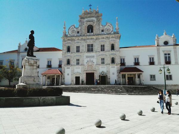Square Praça  Architecture Historical Building Historical Monuments Statue Igreja Matriz  Flagstones Sun Stone Wall White Background