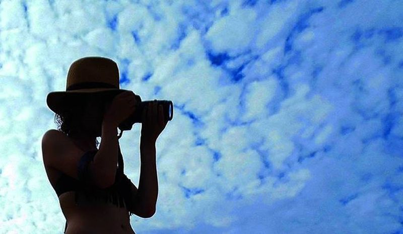 Though my soul may set in darkness, it will rise in perfect light; I have loved the stars too fondly to be fearful of the night Sarahwilliams Poetry Poem Shortpoem Night Fear Photograph Me Sky Bluesky Clouds Hat Photography Warmweather ChristmasBreak Canon TeamCanon Shadow Bikini