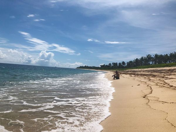 Muni Sand Solo Beach Sea Water Land Sky Cloud Beauty In Nature