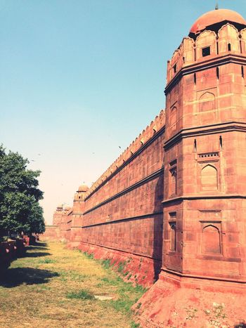 Architecture Built Structure History Day Clear Sky Outdoors Travel Destinations No People Building Exterior Sky at Redfort in Newdelhi India