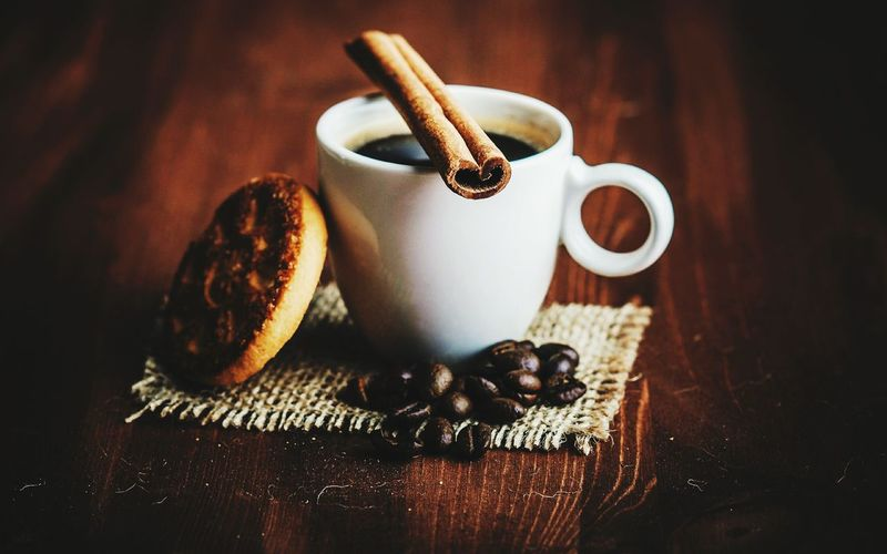Good Morning Cookie Cookies🍪 Cinnamon Cinnamon Sticks Drink Table Wood - Material Coffee - Drink Still Life Close-up Food And Drink Ground Coffee Black Coffee Tea Cup Roasted Coffee Bean Hot Drink Coffee Froth Art Espresso Coffee Bean