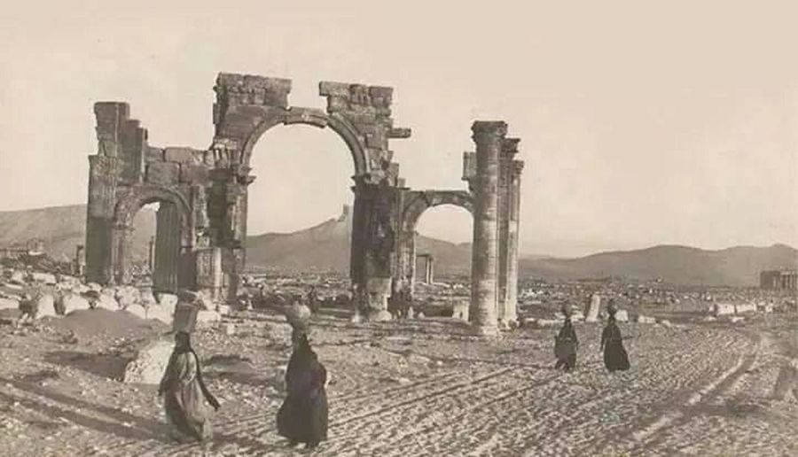 Palmyra Old City Old Places Old Place Antiquities Archaeological
