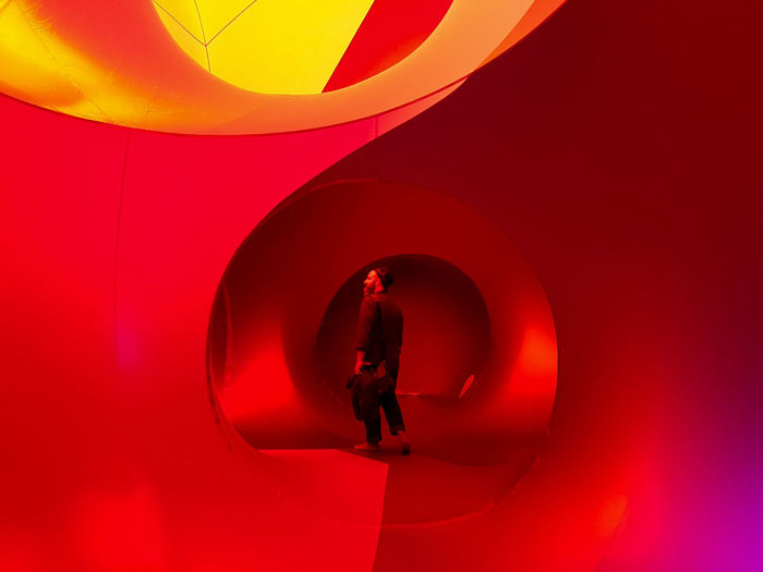 Red One Person Silhouette Indoors  Children Only People Full Length Day Adult Event Architecture Spectrum Luminarium The Week On EyeEm Hipster Your Ticket To Europe Tent Indoors  Abstract Illuminated Real People Photographing Architects Of Air Albesila Bearded Man Mix Yourself A Good Time