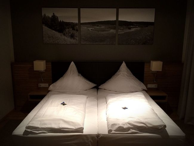 Indoors  Home Interior Bed No People Pillow Illuminated Night Bedroom Close-up Hotel Room Luxury Furnitures Interior Design Bedroom