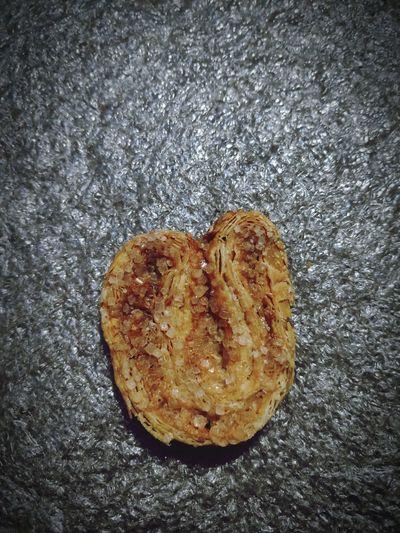 High angle view of heart shape