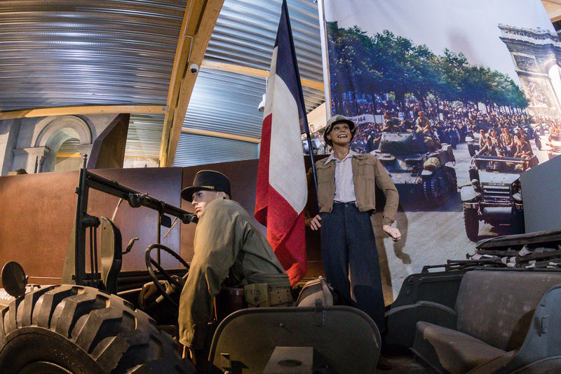 Overlord Museum, Colleville-sur-mer, Normandy, France, July 2017 D-Day Happiness Operation Overlord Overlord Museum Education Exhibition Exhibits French Flag History Museum Overlord