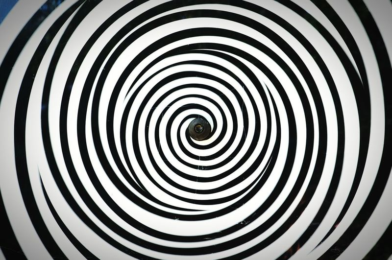 Swirled Pattern Of Black And White Lines