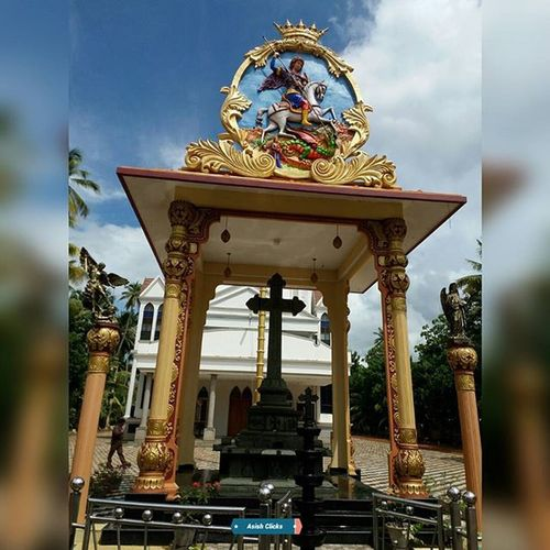St.George Syrian Catholic Church, Muttar, Kerala, India Church Churchtime Churches Stgeorge Asishclicks Mobilephotography Kerala Muttar Aleppey India Christian Catholicchurch Travel Friendswedding