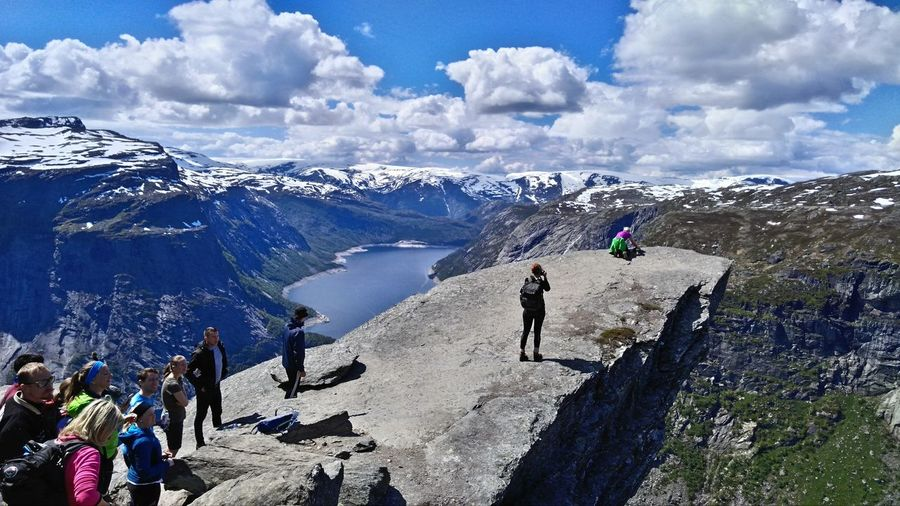 Norway Trolltunga Hiking My Year My View Oppositesite Difficult No Pain No Gain! Travel The World 🌍🌎🌏