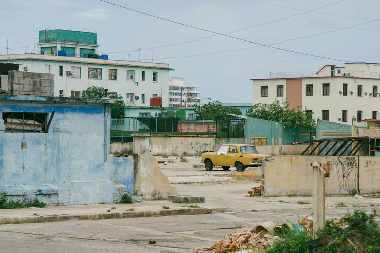 Havana~ Architecture Building Building Exterior Built Structure City Construction Industry Construction Site Day Mode Of Transportation Nature No People Outdoors Plant Residential District Road Sky Street Transportation Tree Yellow