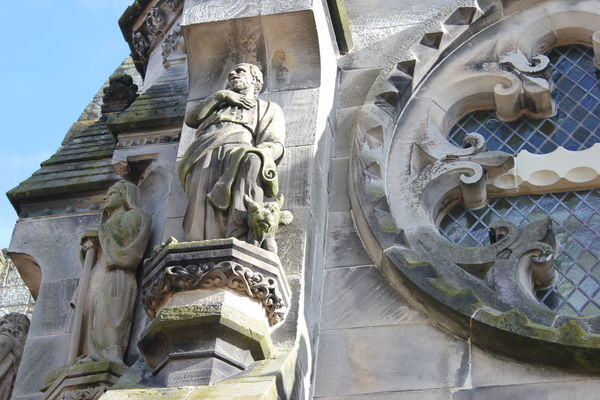 Architecture Building Exterior Day Edinburgh No People Outdoors Place Of Worship Religion Rosslyn Chapel Scotland Sculpture Sky Statue Travel Destinations