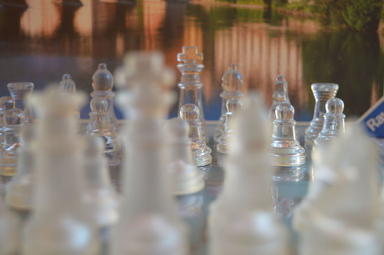 Arrangement Chess Chess Board Chess Piece Close-up Day Drinking Glass King - Chess Piece Knight - Chess Piece No People Outdoors Queen - Chess Piece Strategy