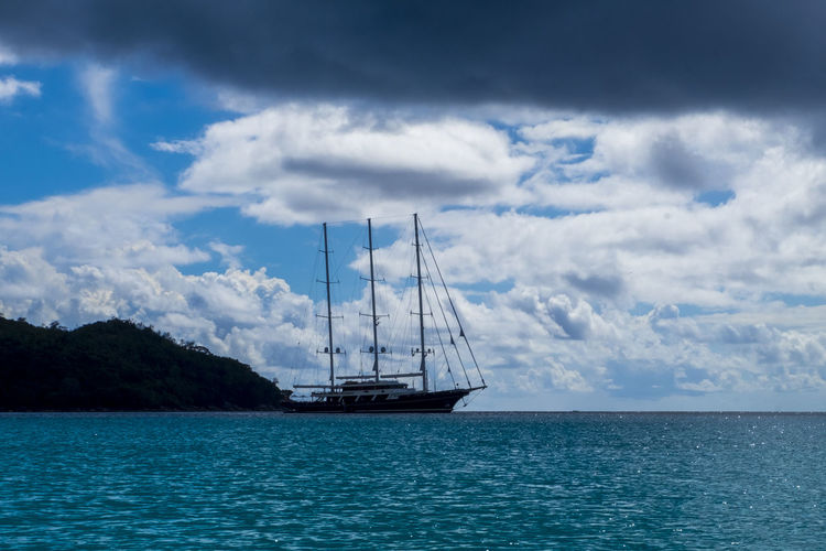 Pirates Beauty In Nature Blue Cloud - Sky Day Horizon Over Water Luxury Mode Of Transportation Nature Nautical Vessel No People Outdoors Sailboat Sailing Scenics - Nature Sea Ship Sky Tranquil Scene Transportation Travel Water Waterfront Yacht