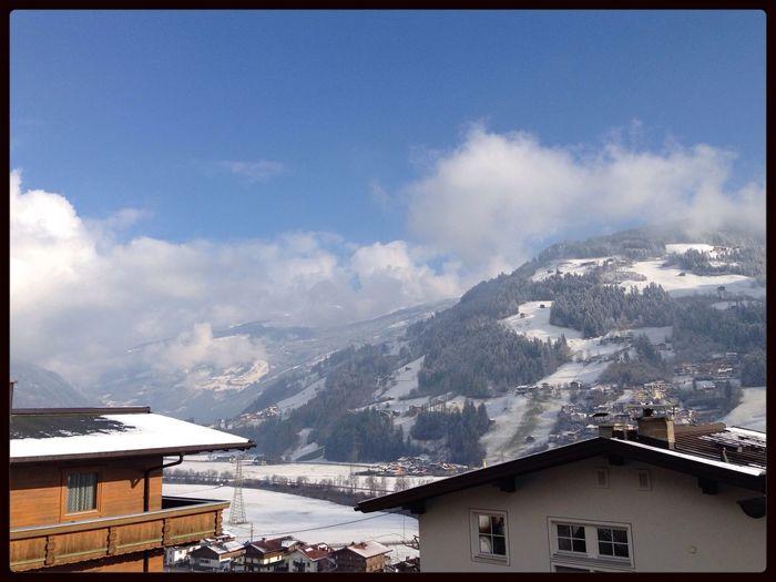 Ausblick Skiing Alpen