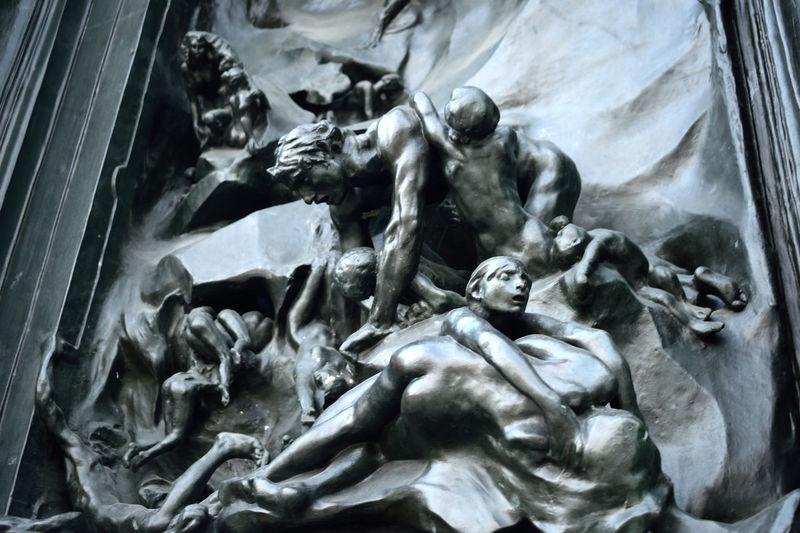 Bronze Statue Door Gate GatesOfHell Hell Rodin Sculpture Statue
