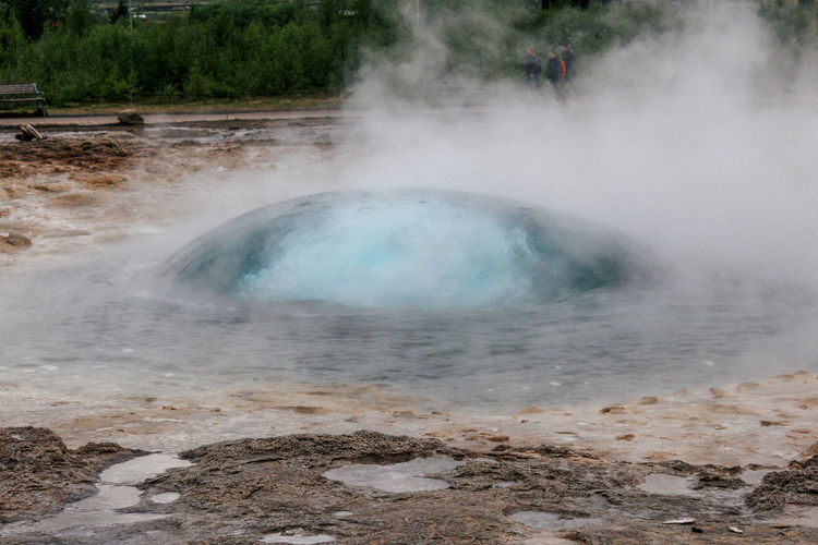 Iceland Strokkur Geysir Beauty In Nature Day Environment Geology Geyser Heat - Temperature Hot Spring Land Landscape Nature No People Non-urban Scene Outdoors Physical Geography Power Power In Nature Scenics - Nature Smoke - Physical Structure Steam Water