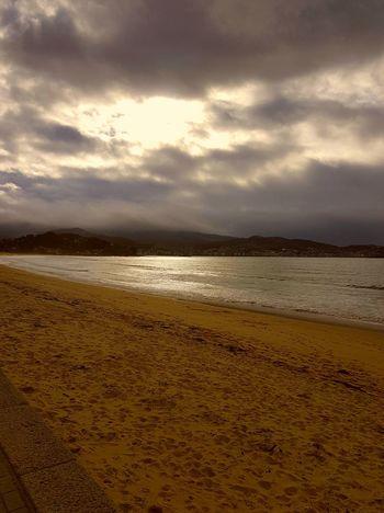 playa america Sand Beach Landscape Nature Water Cloud - Sky Sea