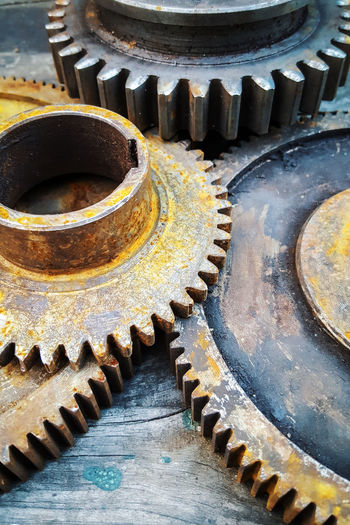 Ancient Close-up Day Design Deterioration Diminishing Perspective Gears History In A Row Machine Part Metallic No People Old Ornate Part Of Repetition Run-down Spiral The Past