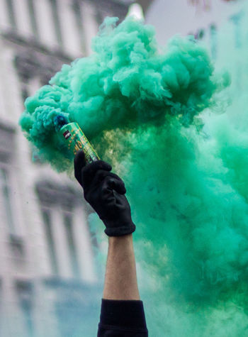 Protest may the first Angry Bom Color Colorful Crowd Emotions Flag Green Hand Protest Protesters Protesting Smile Smoke Smokebomb The Photojournalist - 2017 EyeEm Awards