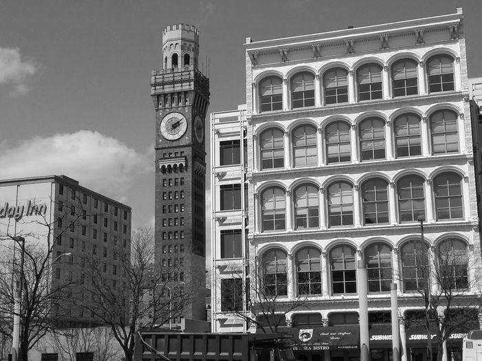 tick tock look at the clock. Camden Yards Clock Tick Tock Street Building