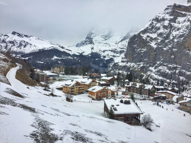 Winter Cold Temperature Snow House Mountain White Color Tranquil Scene Village Switzerland Chalet Valley White Resort Ski Resort  Picturesque Tranquility Nature Snowcapped Mountain Scenics Idyllic Landscape Outdoors Scenery