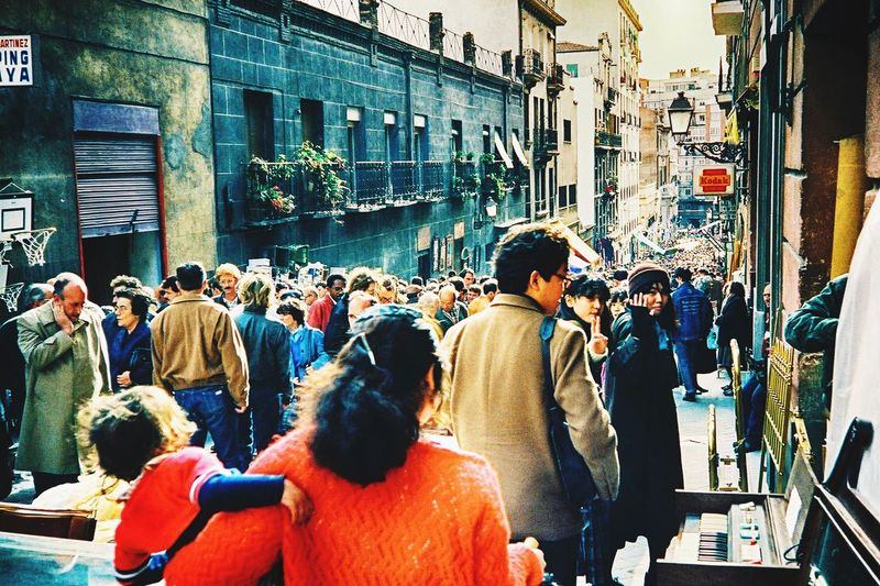 Large Group Of People Architecture Building Exterior Real People City Built Structure Crowd Sitting People Day Outdoors SPAIN Your Ticket To Europe Your Ticket To Europe