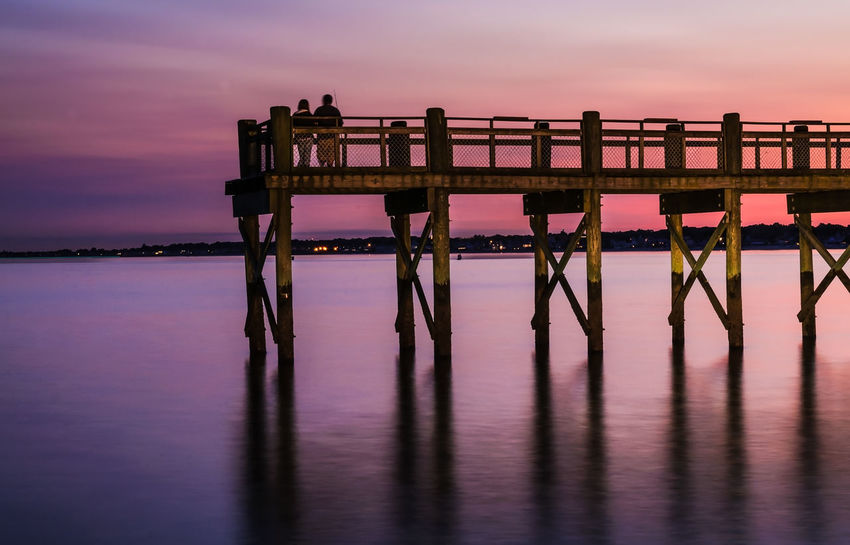 Enjoying a Nice Evening Beauty In Nature Colors In Sky Couple Enjoying Life Enjoying The View Horizon Over Water Lovers Nature Outdoors Scenics Sea Sky Sunset Tranquility Water