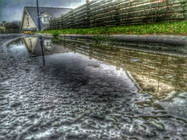 Borth, Wales Water Reflections Hdr Edit Samsung Galaxy S II  Snapseed Editing  Wooden Fence