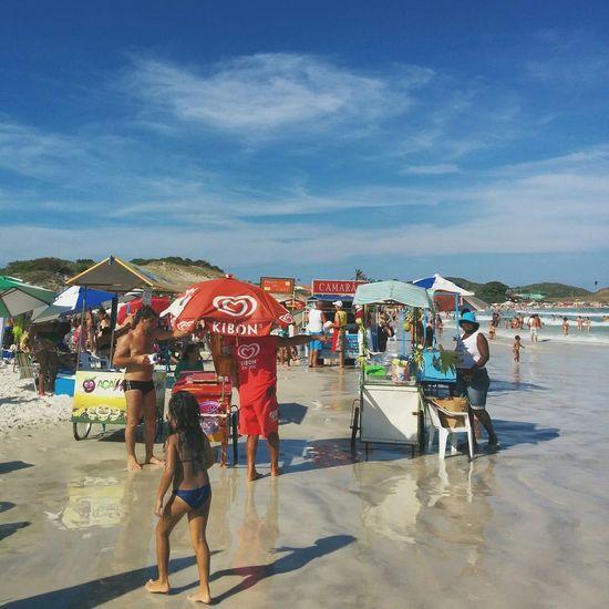Beach-open-air market. What are you going to have? Cabofrio  Brazil Riodejaneiro Shrimp Coconut Beach Praia Foodie