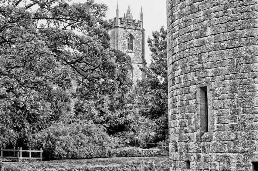 Day Outdoors Low Angle View No People Built Structure Architecture Full Frame Building Exterior Close-up Nature Sky Black And White Hdr  Village Church Water