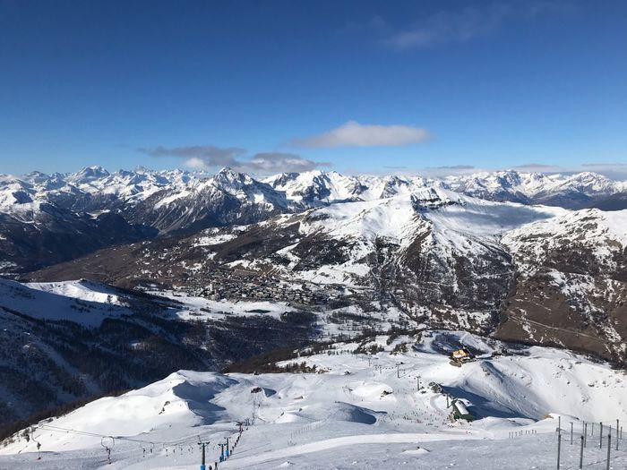 Montagna Sestriere Snow Winter Cold Temperature Mountain Beauty In Nature Scenics - Nature Sky