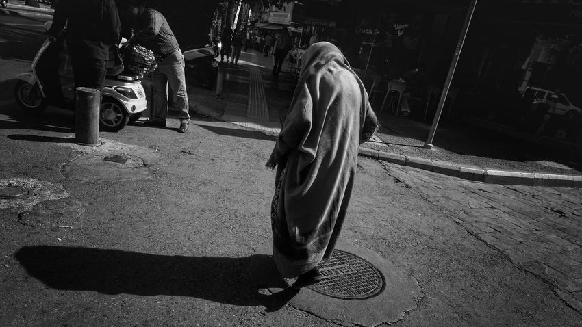 Izmir Turkey street Old Woman One Person Real People Under Wraps
