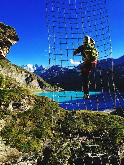 Moiry Grimentz Val D'Anniviers Valais Switzerland Alps Via Ferrata Outdoors Sport Nature Go Higher Summer Exploratorium The Great Outdoors - 2018 EyeEm Awards Summer Sports