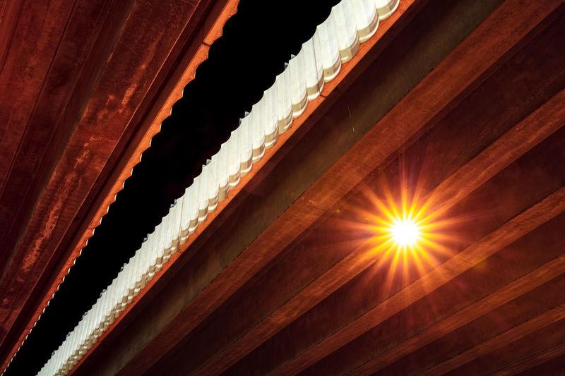 Lighting Equipment Ceiling Built Structure No People Pattern Bridge