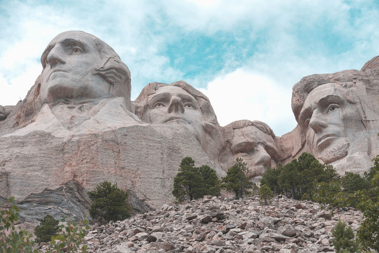 Image of Beautiful Mount Rushmore, South Dakota Hills National Park Nature Painted Petrified Rushmore South Dakota Thomas Travel Vacations View Amazing Background Day Keystone Landmark Landscape National Memorial Nature No People Reserve Roosevelt Scenics Sky Stone