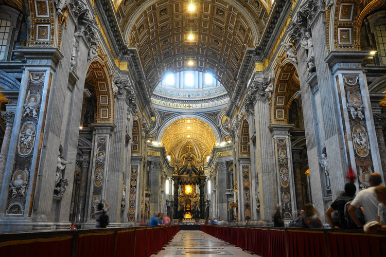 St. Peter's Church, Rome Altar Architectural Column Architecture Built Structure Day Dome History Illuminated Indoors  No People Pew Place Of Worship Place Of Worship, Religion, Indoors, Spirituality, Architecture, Travel Destinations, Ceiling, History, Illuminated, Architectural Column, Built, St. Peter's Church, Rome, Italy Religion Spirituality St. Peter's Church, Rome Travel Destinations