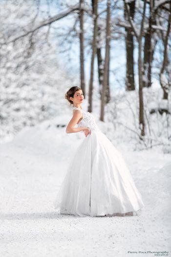Winter Wedding Weddingdress Bride Winter Wonderland