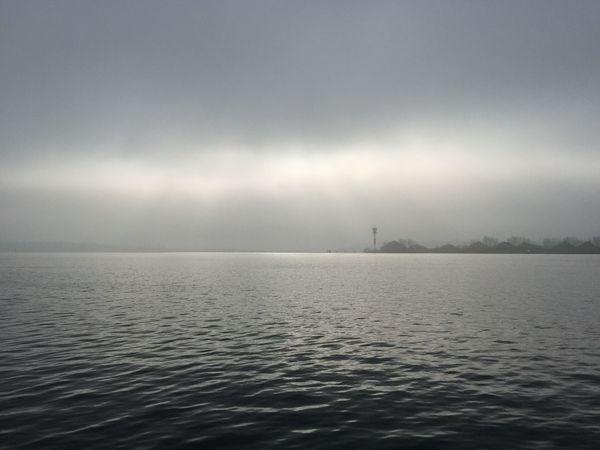 Nebel auf der Kieler Förde Fresh Air IPhoneography Shades Of Grey Traveling Kiel Deutschland Depth Of Field Sea And Sky Enjoying The Sights The Moment - 2015 EyeEm Awards