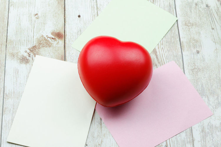 Heart shape red ball Valentine's Day  Valentine Heart ❤ Heart Shape Red Love ♥ Love Wooden Background Copy Space Copyspace Background Red Celebration Easter Love Holiday - Event Cultures Paper Valentine's Day - Holiday Heart Shape Close-up