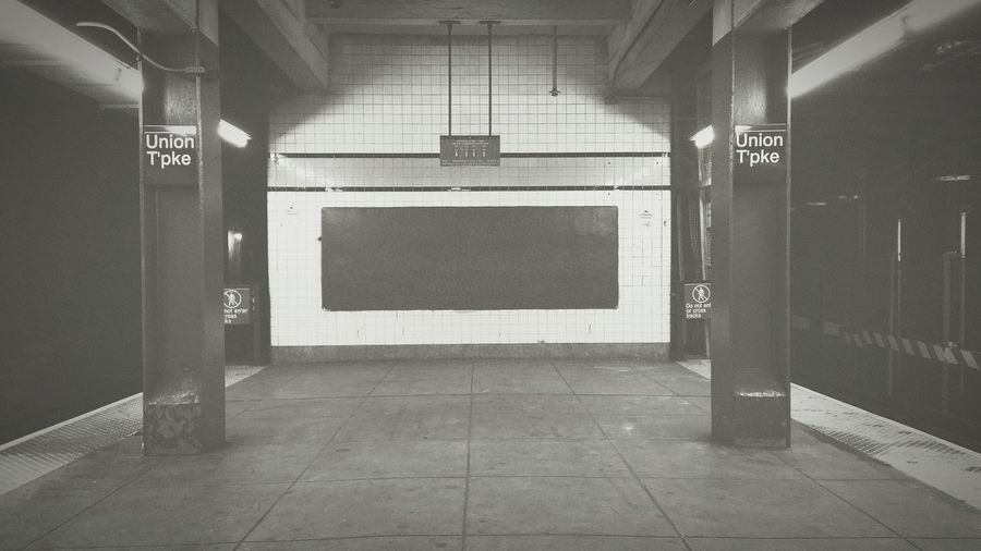 Symmetry in the station. Kew Gardens Train Station Subway Station Underground NYC Blackandwhite NYC Photography Union Turnpike Nycsubway Queens