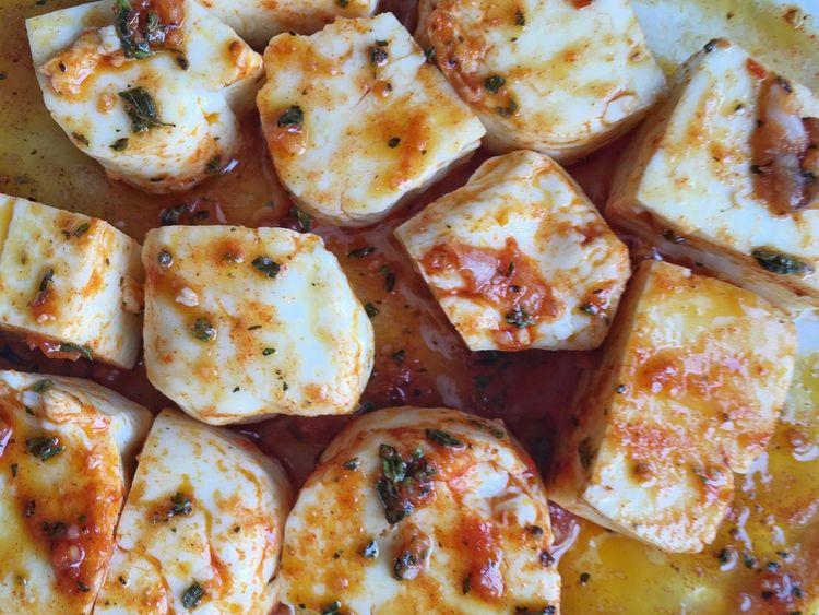 Halloumi Cheese Marinating Marinade Cooking Food Home Cooking