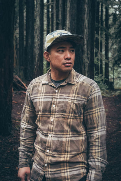 Adult Adults Only Camouflage Clothing Day Forest Mid Adult One Man Only One Person Only Men Outdoors People Plaid Shirt  Portrait