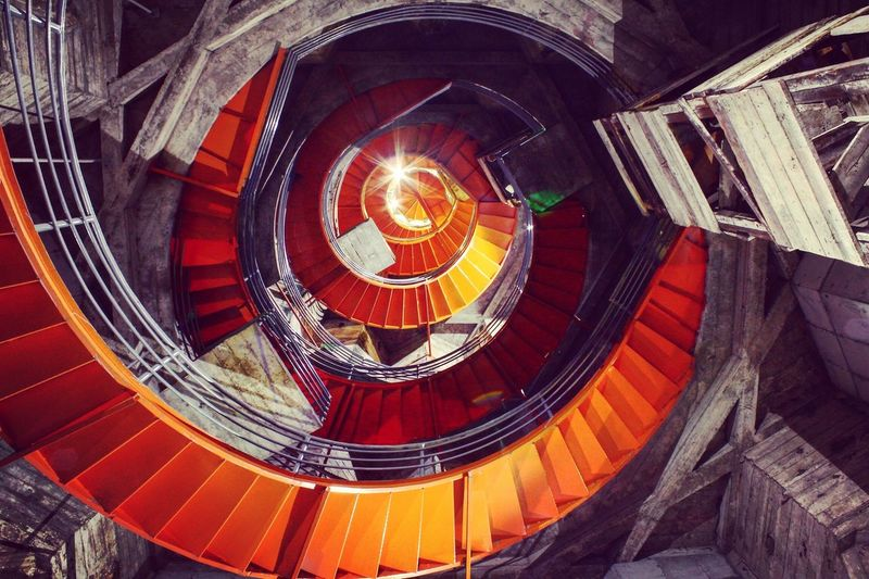 Colombia ♥  Manizales Orange Color Spiral Staircase Spiral First Eyeem Photo