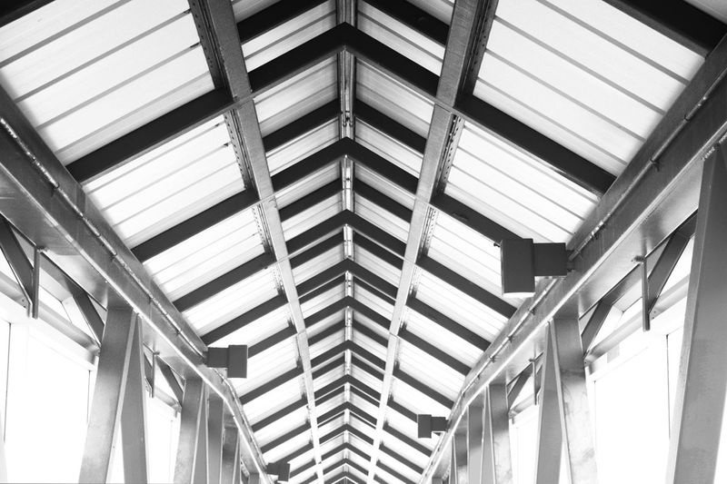 Low angle view of ceiling in building