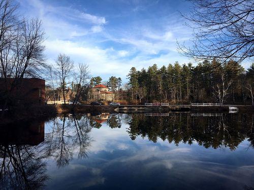 Landscape of St. Paul's School Reflection Sky Landscape Water Cloud - Sky