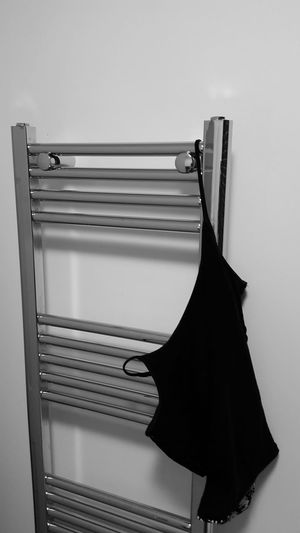 Indoors  No People Coathanger Close-up Day Alone Blackandwhite Towel Holder Bath Clothes Clothes Hanging Clothes Down