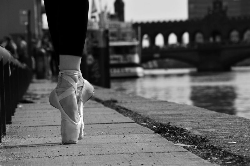 Adult Ballerina Ballet Bridge - Man Made Structure Close-up Cultures Day Human Body Part Human Leg Low Section One Person Outdoors People Real People Walking Women #FREIHEITBERLIN