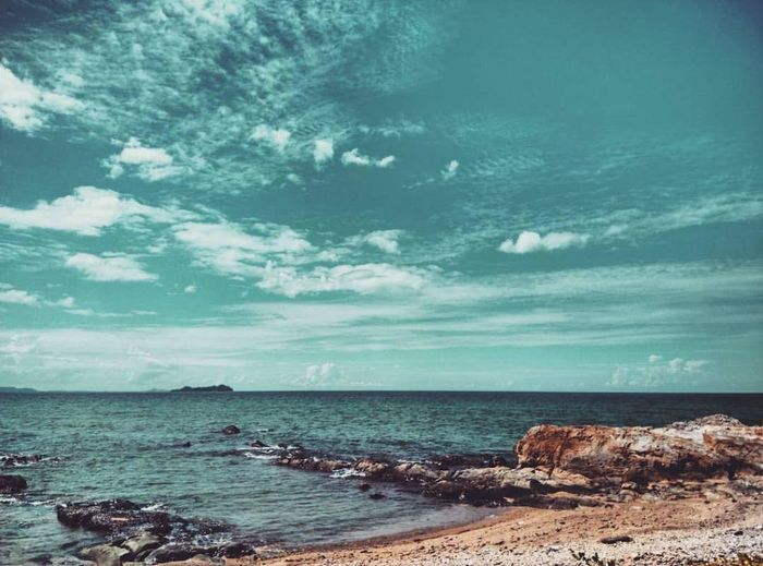 Sea Horizon Over Water Nature Beach Landscape Cloud - Sky Beauty In Nature No People Scenics Outdoors Water Sky Awe Blue Day Wave Nautical Vessel Sailing Ship First Eyeem Photo