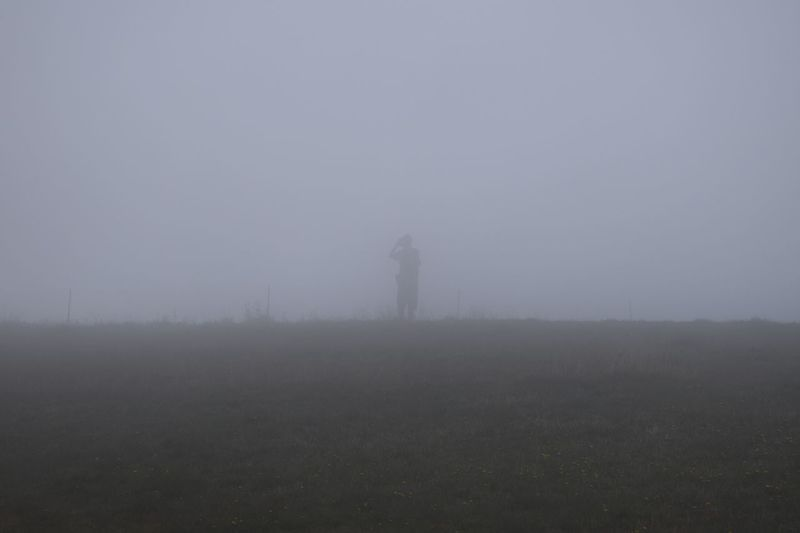 View of foggy weather
